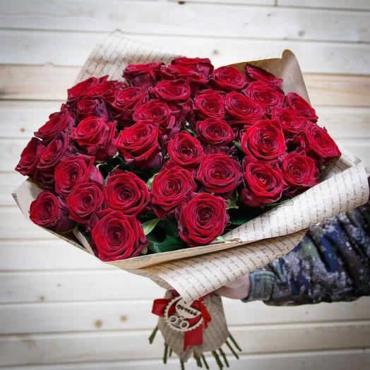 Акция! 51 красная роза (точно свежая)