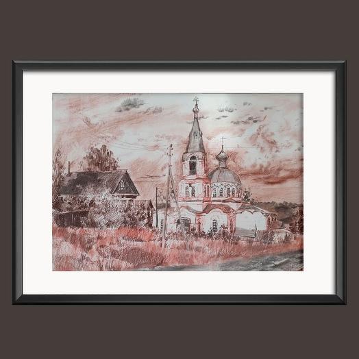 """Картина """"Родная церковь"""""""