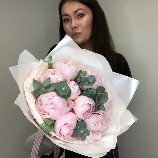 Pink peony S 💕: букеты цветов на заказ Flowwow