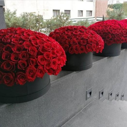Цветы в коробке 1001 роз