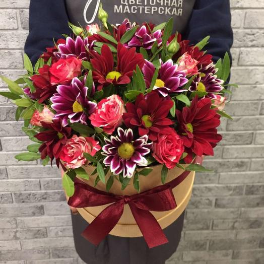 Цветы в коробке 00734