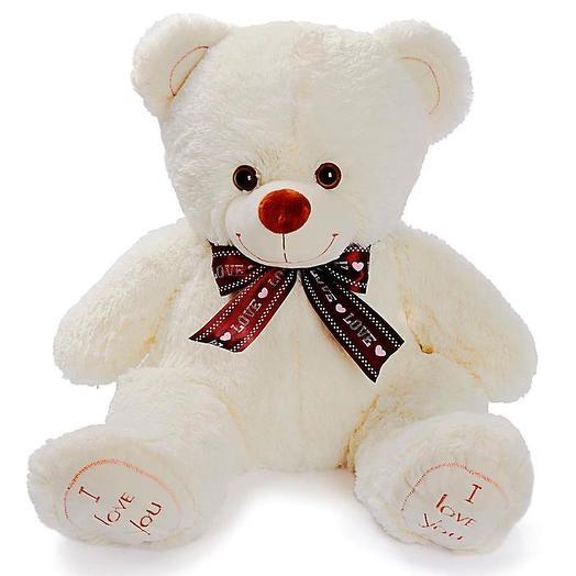 "Soft toy ""Felix the bear"", 70 cm, milk color"