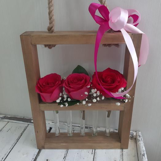 Розы+ваза