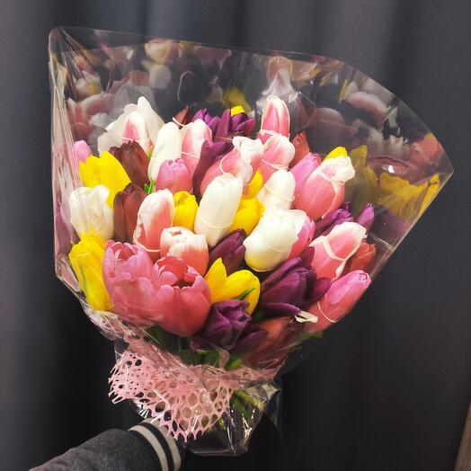 Букет тюльпан 51 шт