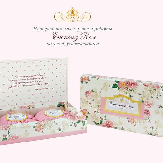 Клеона - Подарочное мыло ручной работы Evening Rose 150 г