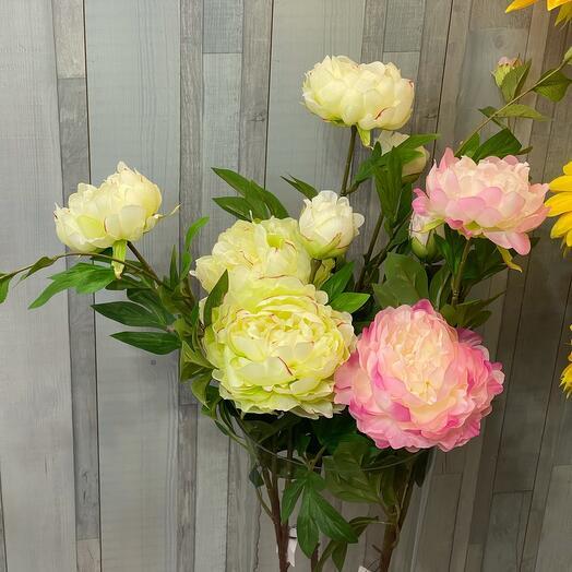 Искуственная Кустовая пионовидная Роза