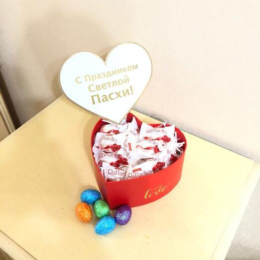 Коробка сердце с рафаэлло
