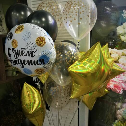Набор шаров С днем рождения Конфетти