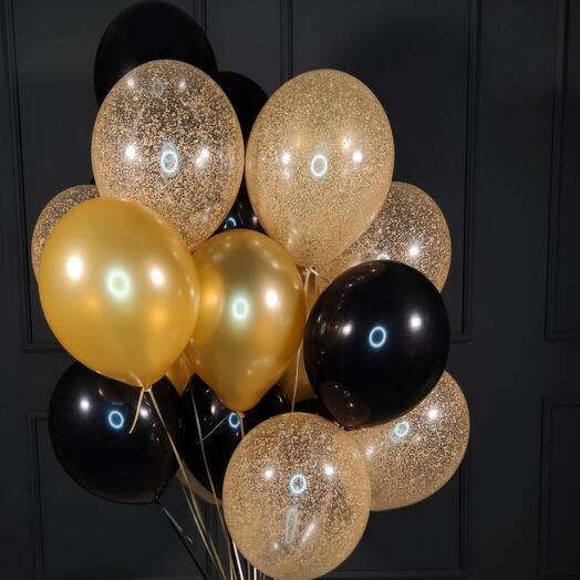 Сет из 20шт воздушных шаров (золото)