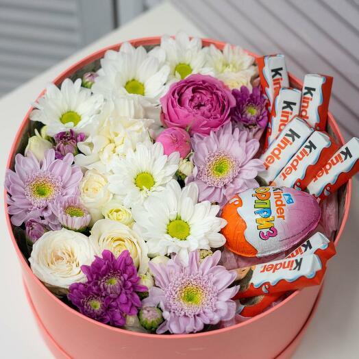 """Композиция """"Вкусная цветочная коробочка"""""""