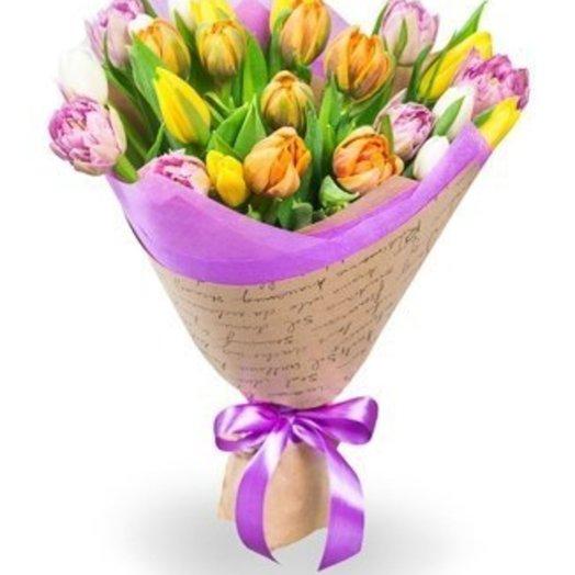 Радужный микс: букеты цветов на заказ Flowwow