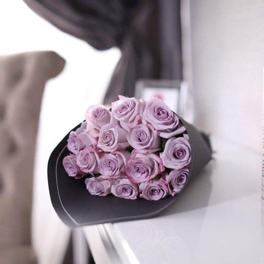 Букет из 15 роз Purp e: букеты цветов на заказ Flowwow
