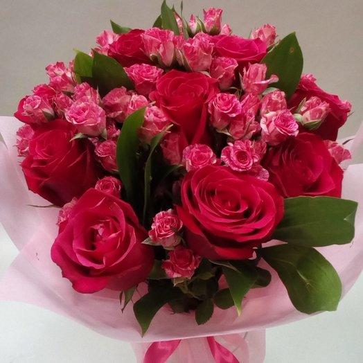 Малиновое чудо: букеты цветов на заказ Flowwow