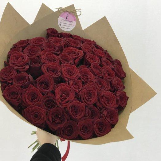 51 розочка в крафте: букеты цветов на заказ Flowwow