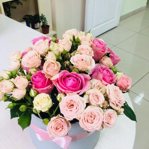 Коробочка для настроения ): букеты цветов на заказ Flowwow