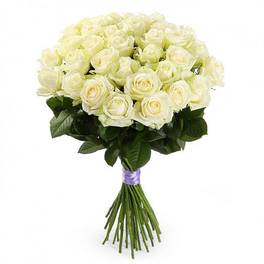 Букет из 25-ти белых роз