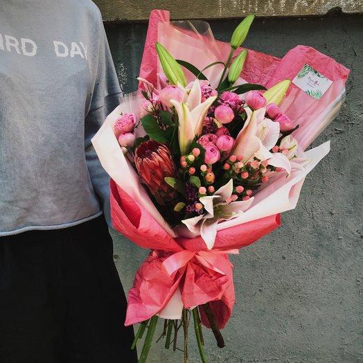 """Букет """"Розовая романтика"""": букеты цветов на заказ Flowwow"""