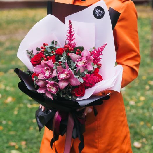 Огненная любовь: букеты цветов на заказ Flowwow