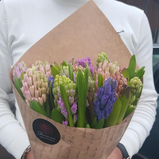 Букет из гиацинтов: букеты цветов на заказ Flowwow