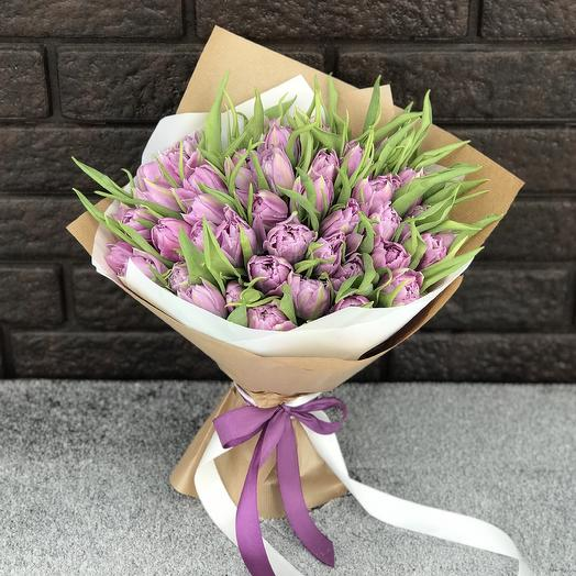 Букет из 49 тюльпанов: букеты цветов на заказ Flowwow
