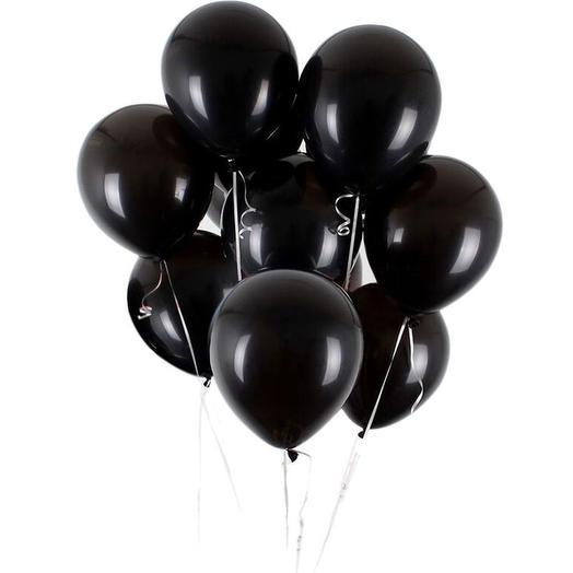 9 черных шаров: букеты цветов на заказ Flowwow