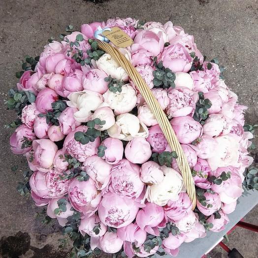 101 пион: букеты цветов на заказ Flowwow