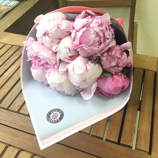 9 пионов. Premium: букеты цветов на заказ Flowwow