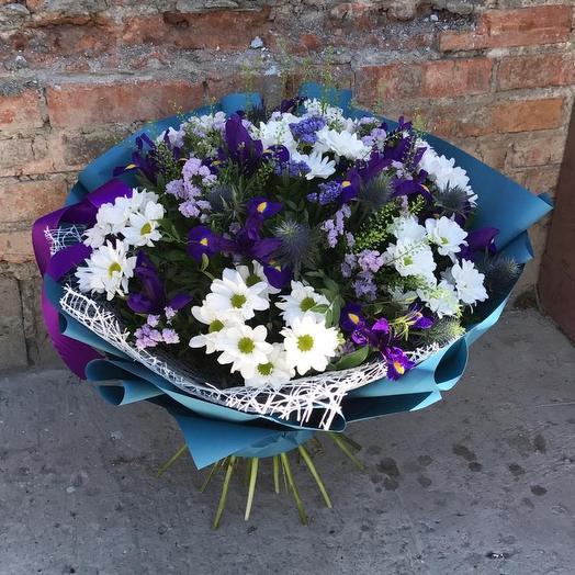 """Букет """"Небесный ирис"""": букеты цветов на заказ Flowwow"""