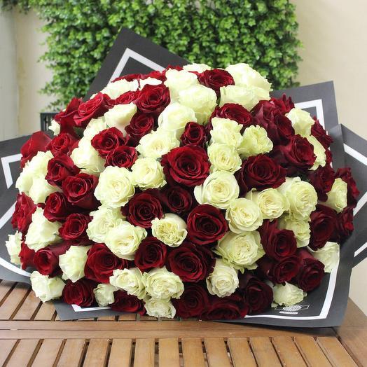 101 роза. Premium. Craft: букеты цветов на заказ Flowwow