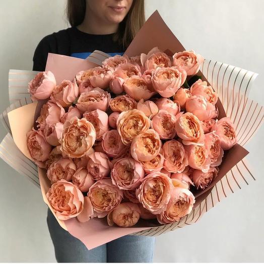 Персиковое облако: букеты цветов на заказ Flowwow