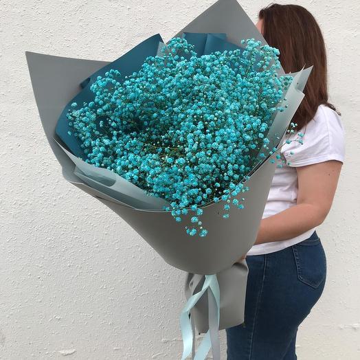 """Объемный букет """"Воздушная бирюза"""": букеты цветов на заказ Flowwow"""