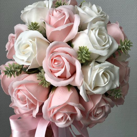 Букет невесты из мыльных роз: букеты цветов на заказ Flowwow