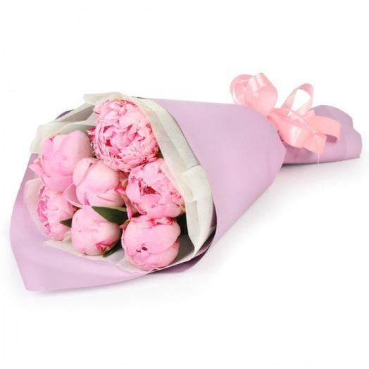 """Букет пионов """"Сара"""": букеты цветов на заказ Flowwow"""