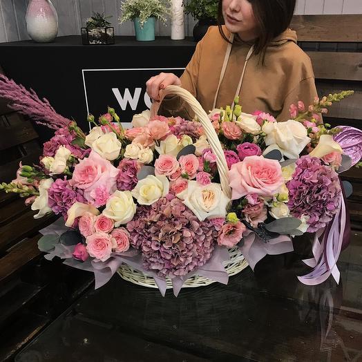 "Цветы в корзине ""Облако Любви"""