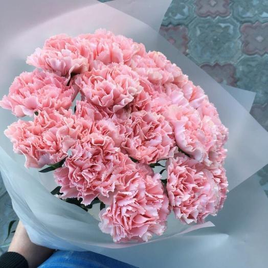 19 розовых гвоздик: букеты цветов на заказ Flowwow