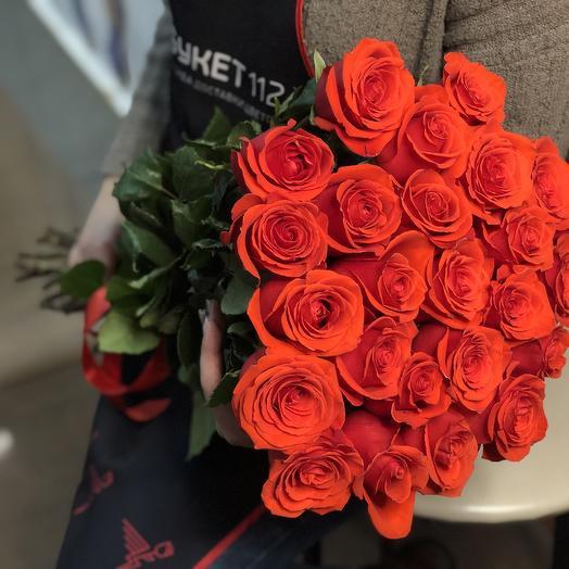 ✅ 19 roses 60 cm in a bouquet (Ecuador)