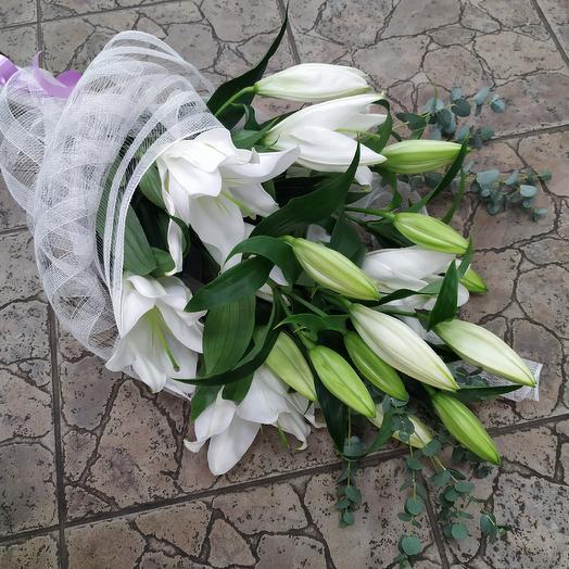 """Букет белых лилий """"Откровение"""": букеты цветов на заказ Flowwow"""