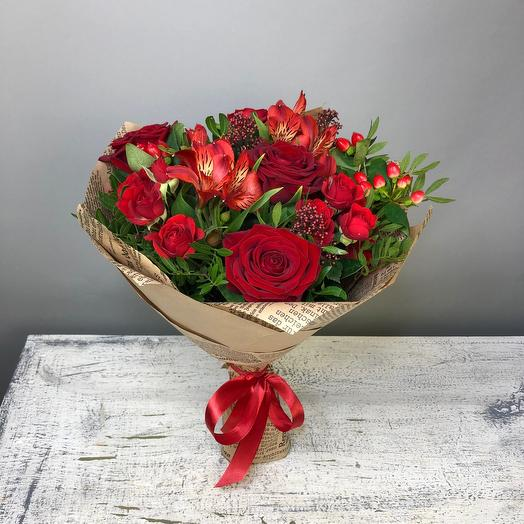 Lady in red: flowers to order Flowwow