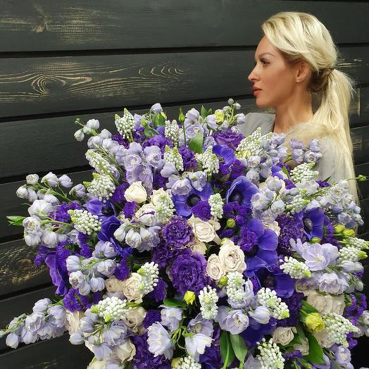 Букет сиренево-голубой: букеты цветов на заказ Flowwow