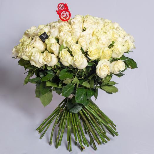 51 роза премиум 60 см