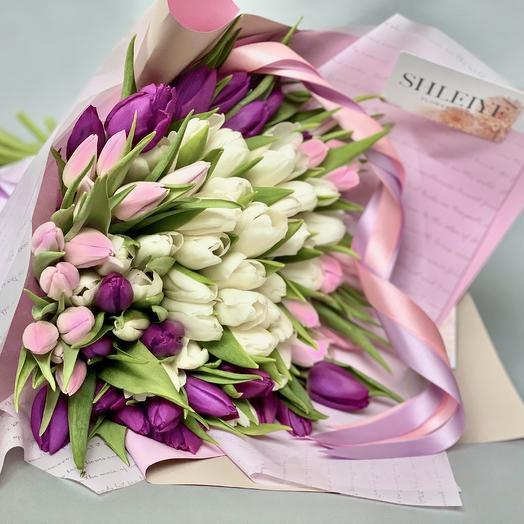 Праздничный микс 101 шт: букеты цветов на заказ Flowwow