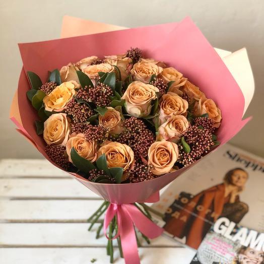 Букет роз Капучино: букеты цветов на заказ Flowwow