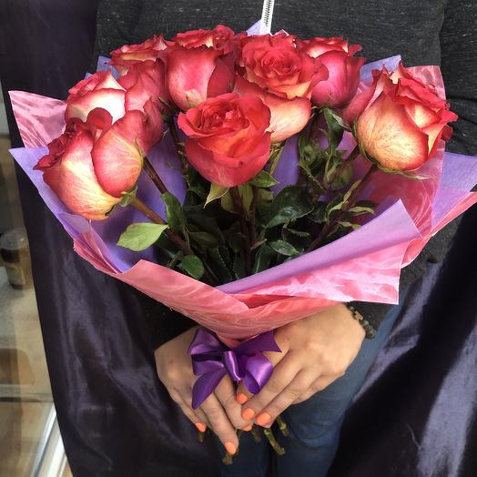 Букет 11 Эквадорских роз: букеты цветов на заказ Flowwow