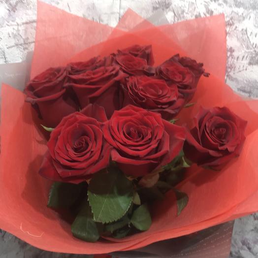 Букет 11 красных роз: букеты цветов на заказ Flowwow