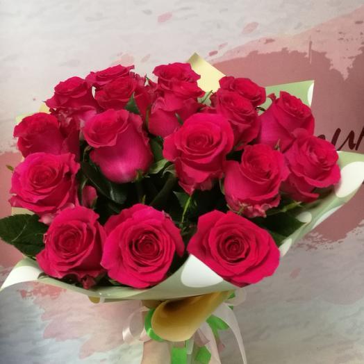 Букет розовых роз 17 шт: букеты цветов на заказ Flowwow