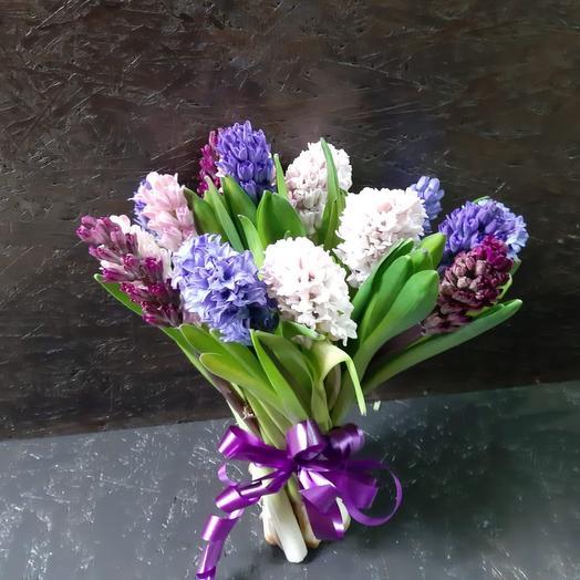 Букет из свежих гиацинтов микс: букеты цветов на заказ Flowwow