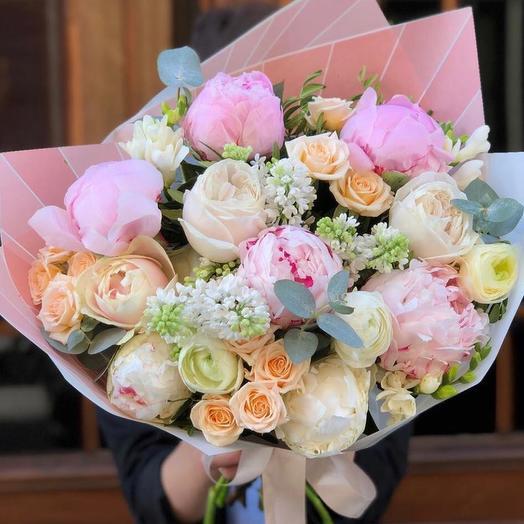 """Букет цветов  """"Сладкая вата"""""""