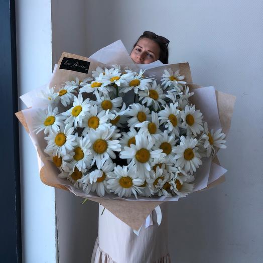 Букет гигант ромашек: букеты цветов на заказ Flowwow