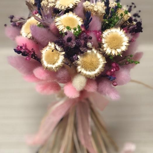 Букет сухоцветов лиловый