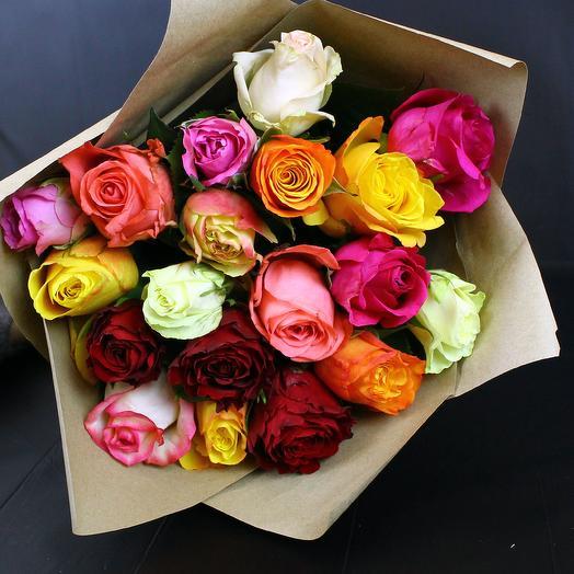 ✅ Букет микс из 19 роз (цвета по наличию)